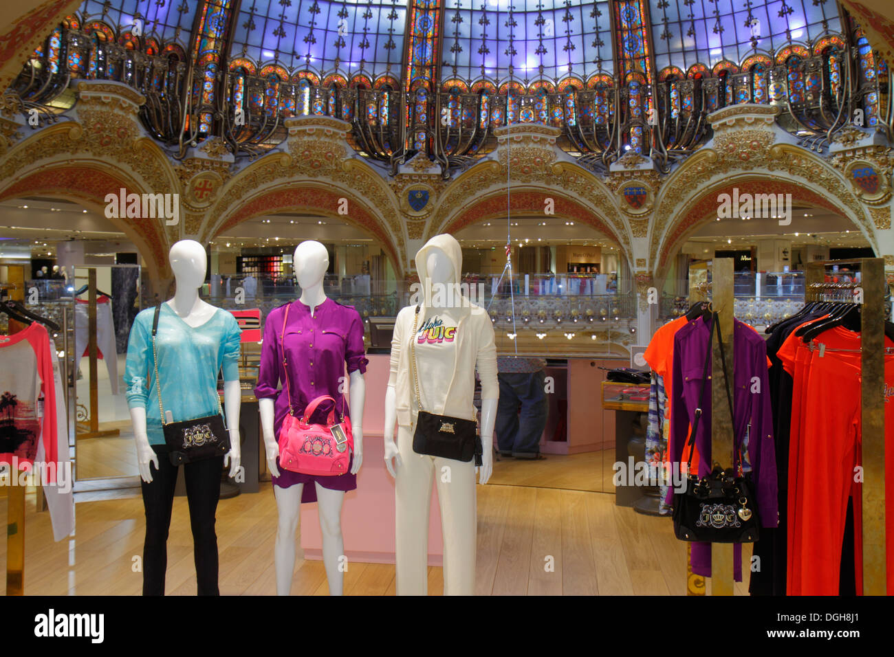 Paris France Europe French 9th arrondissement Boulevard Haussmann Galeries Lafayette department store shopping fashion mannequin - Stock Image