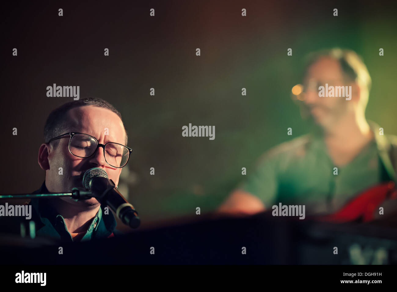 Hot Chip at the Vic Theatre Chicago IL  Alexis Taylor - Stock Image