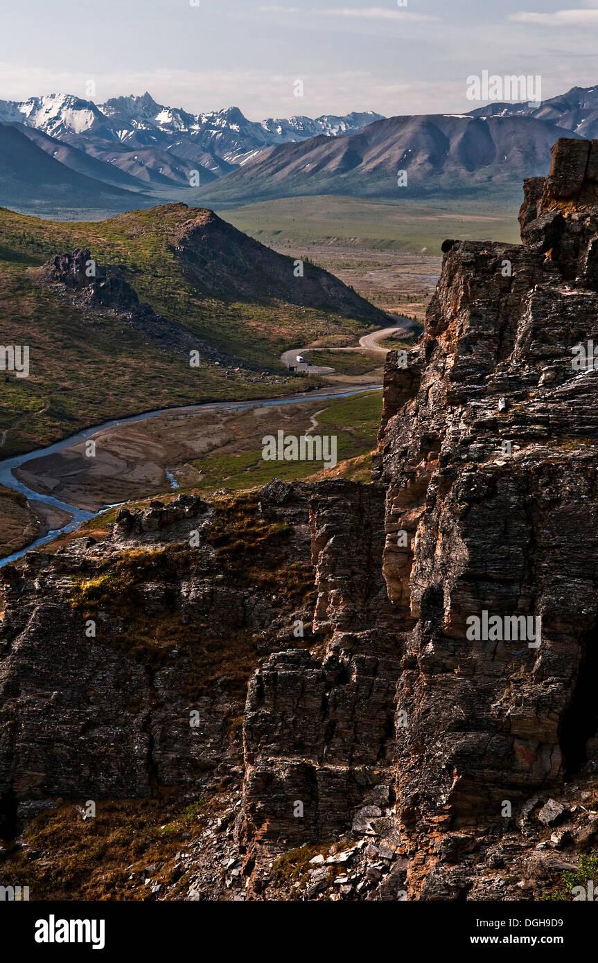 Savage Canyon in Denali National Park, Alaska - Stock Image