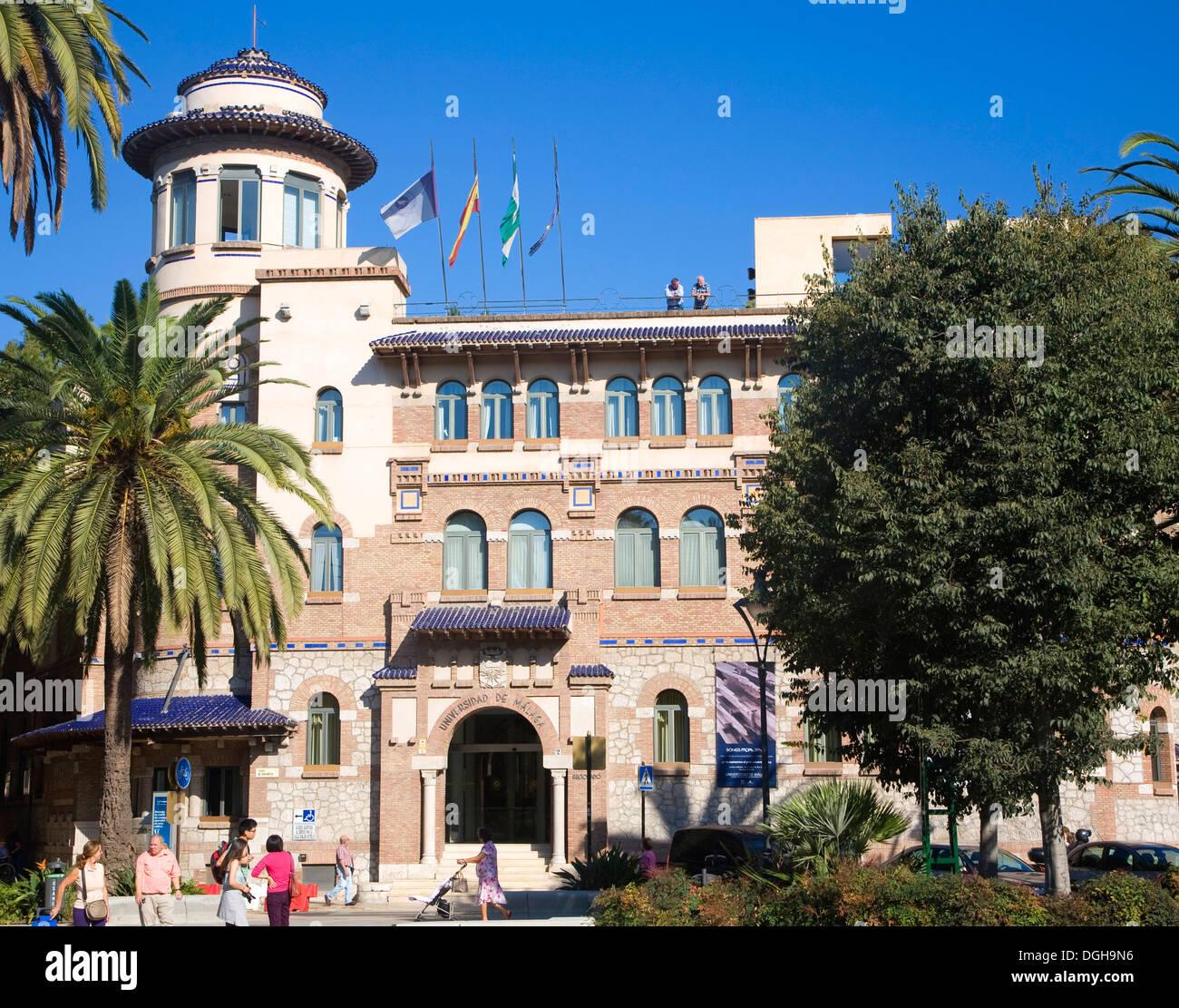 Universidad Malaga university building Malaga Spain - Stock Image