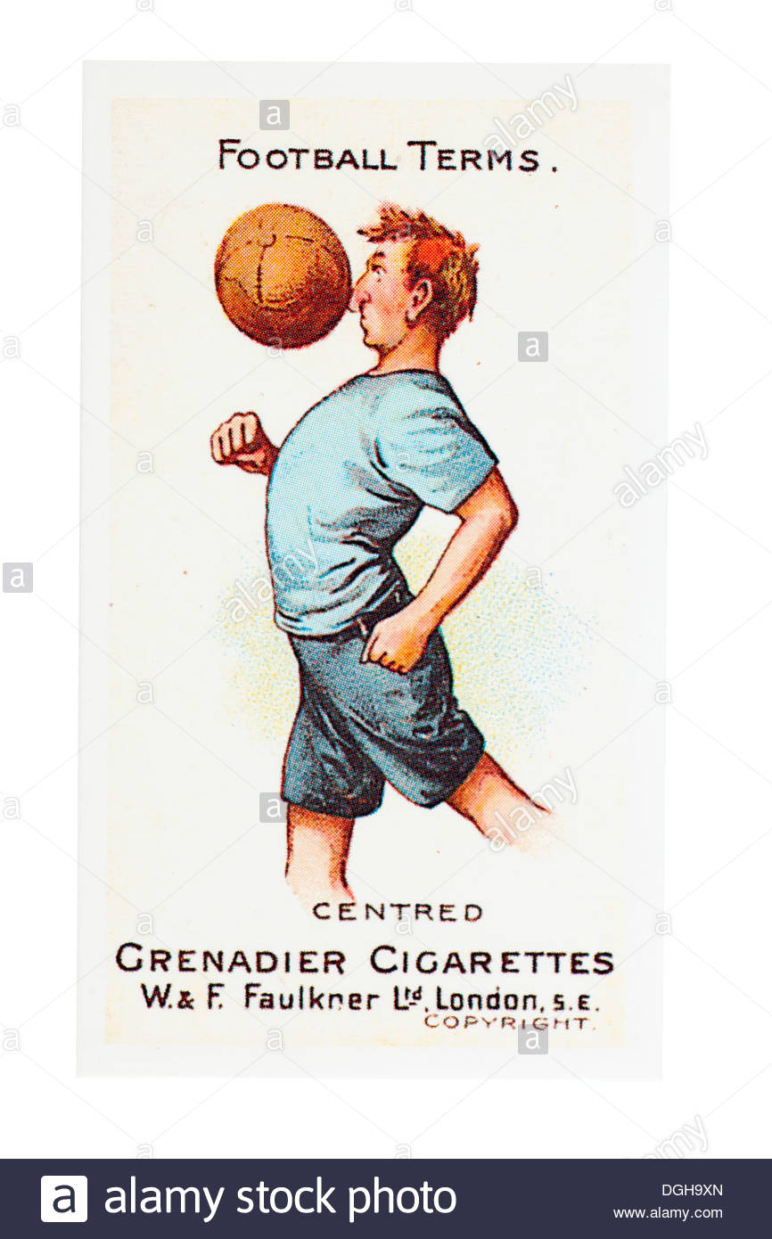 Comical Football Terms copyright from W & F Faulkner LTD first printed in 1900. For Grenadier Cigarettes: Centred EDITORIAL ONLY - Stock Image
