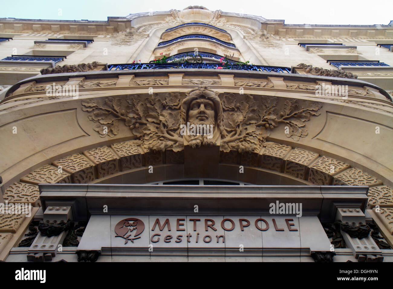 Paris France Europe French 2nd arrondissement Rue des Filles Saint-Thomas Metropole Gestion metropolis management city administr - Stock Image