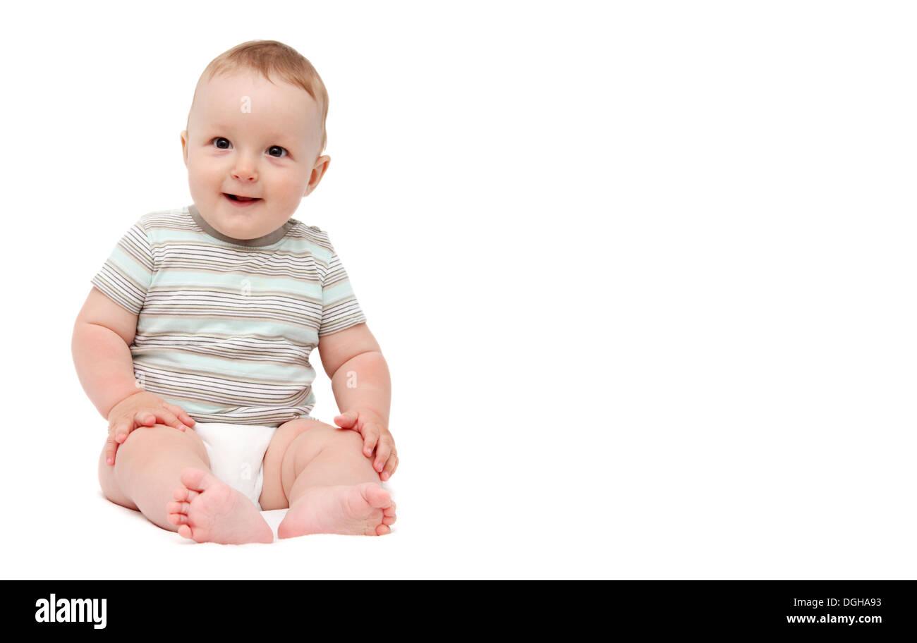 baby smiling - Stock Image