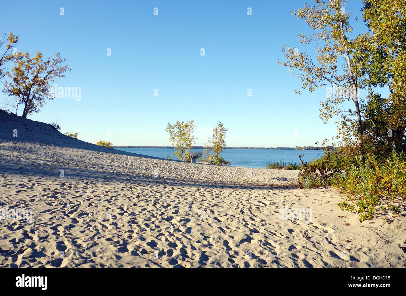 Sandbanks Provincial Park on the Lake Ontario, Canada - Stock Image