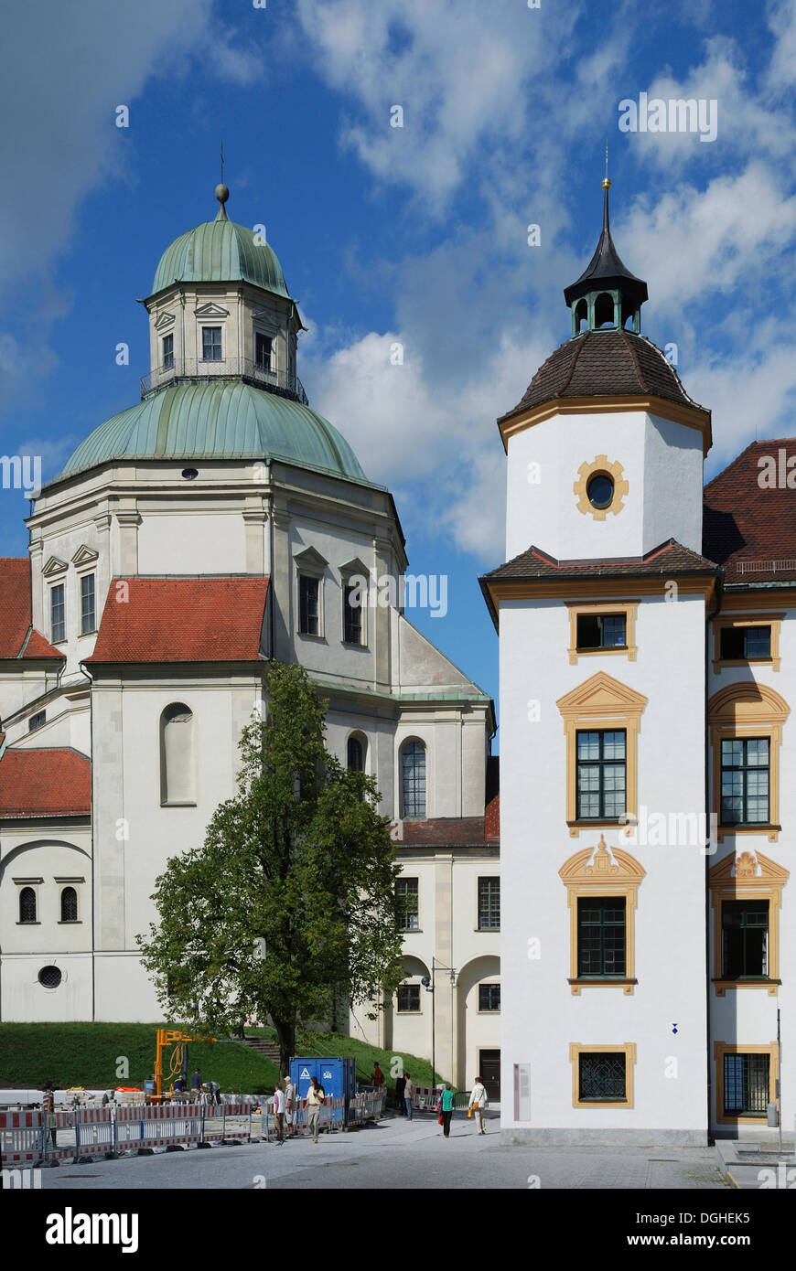 Saint Lawrence Basilica in Kempten. - Stock Image