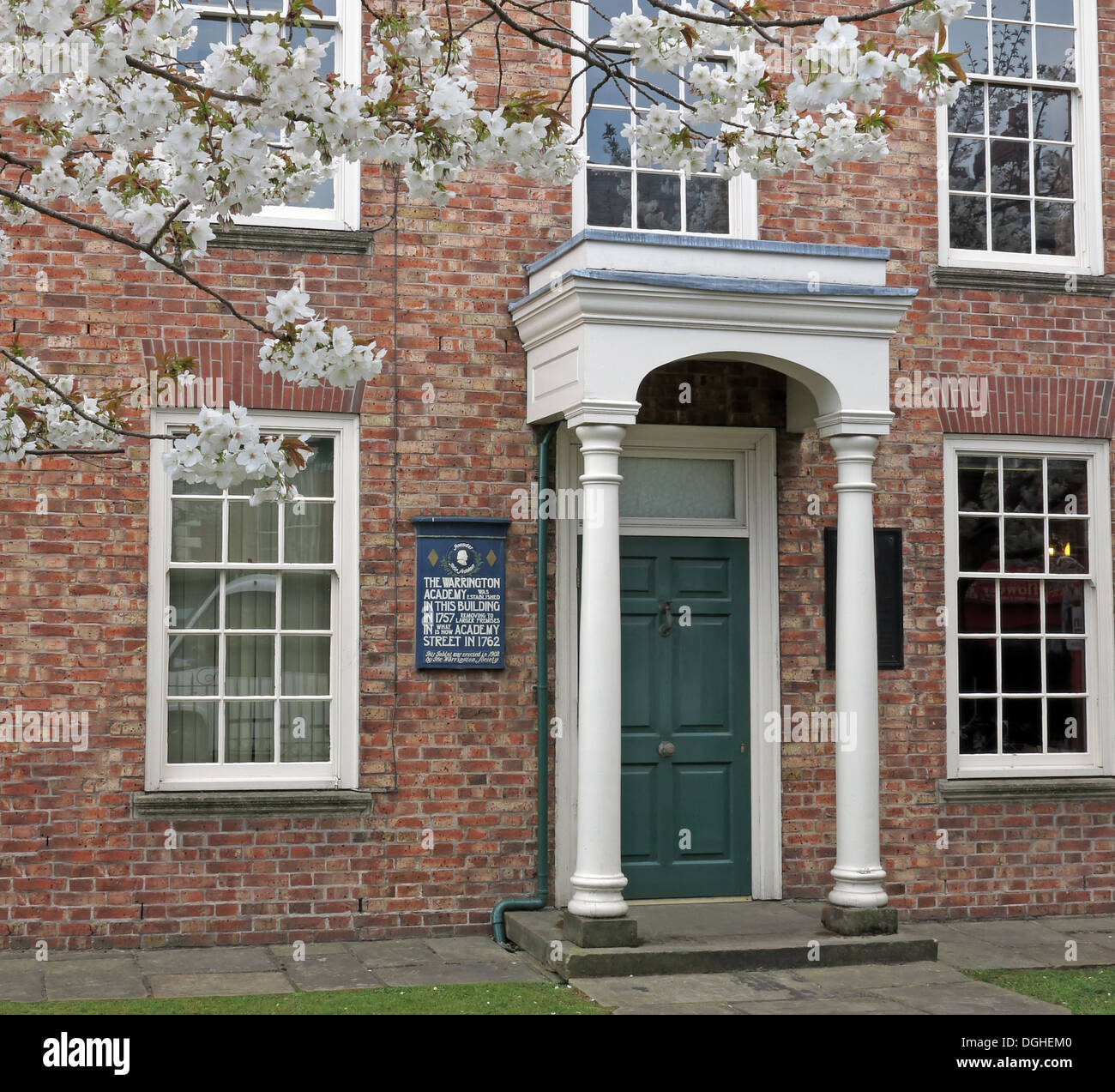 The Academy building Warrington Guardian office Bridge st in spring Cheshire England UK - Stock Image