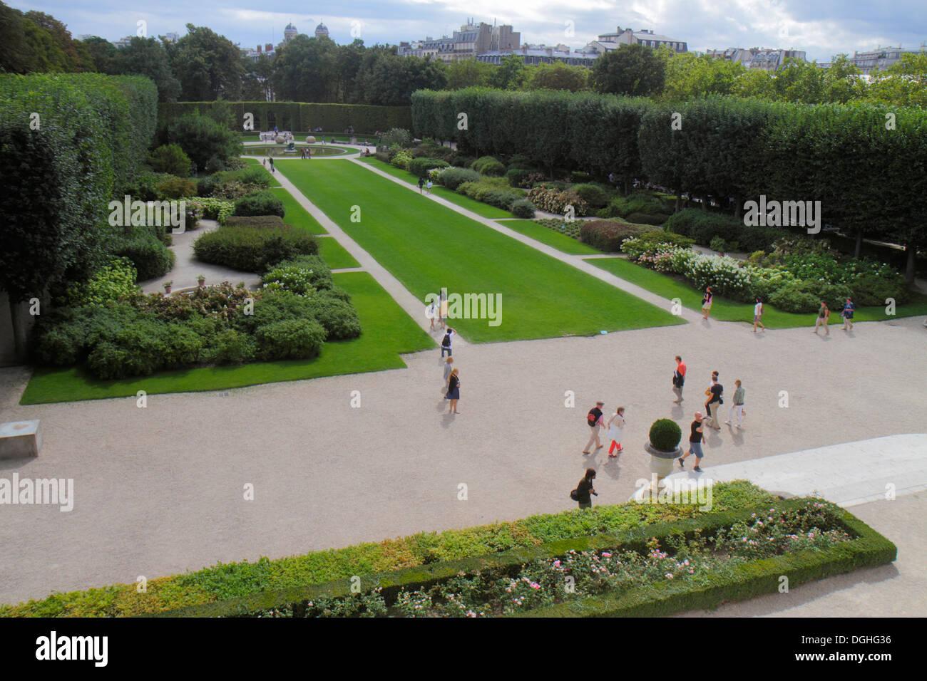 Paris France Europe French 7th arrondissement Musée Rodin Rodin Museum garden grounds Stock Photo