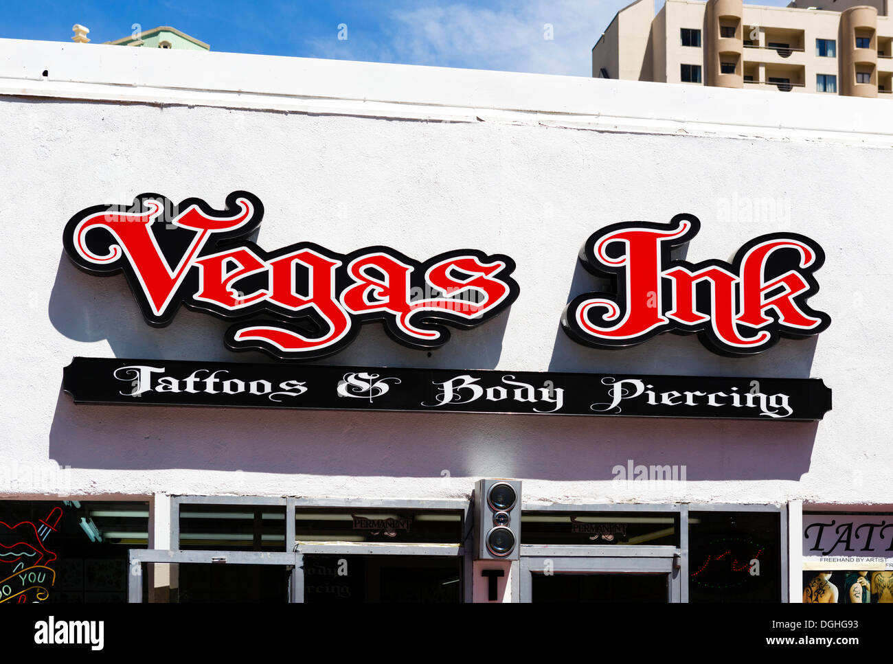 Vegas Ink tattoo and body piercing parlor, Las Vegas Boulevard South ...