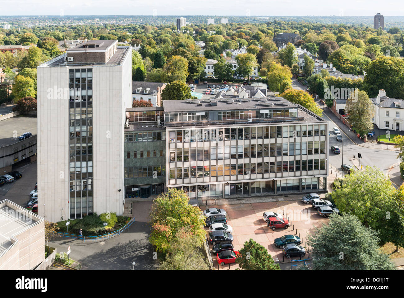 The Chamber of Commerce office building, Edgbaston, Birmingham, England - Stock Image