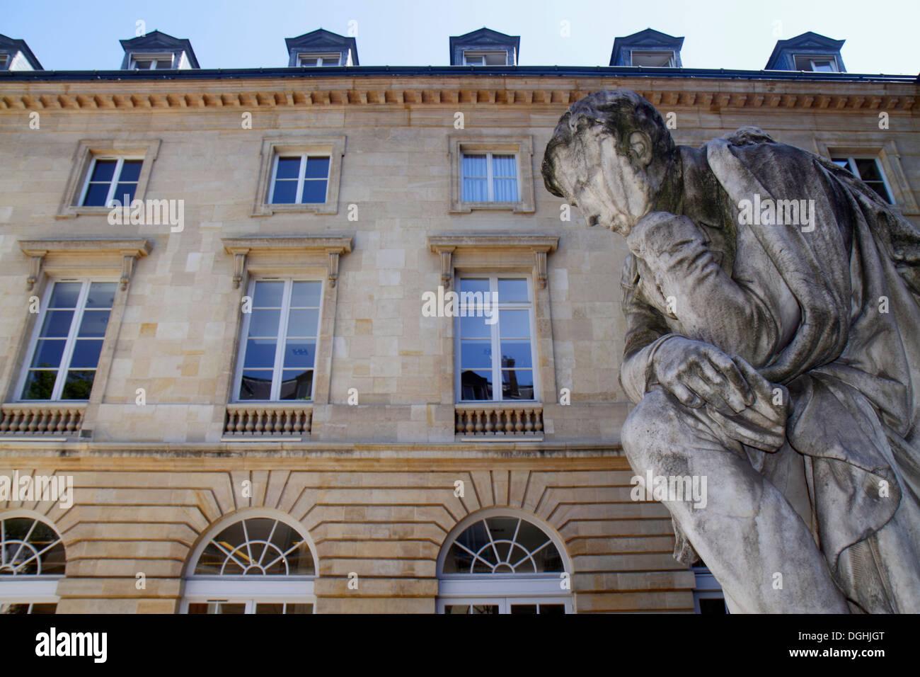 Paris France Europe French 5th arrondissement Latin Quarter Rive Gauche Left Bank Rue des Écoles Place Marcellin Berthelot Collè - Stock Image