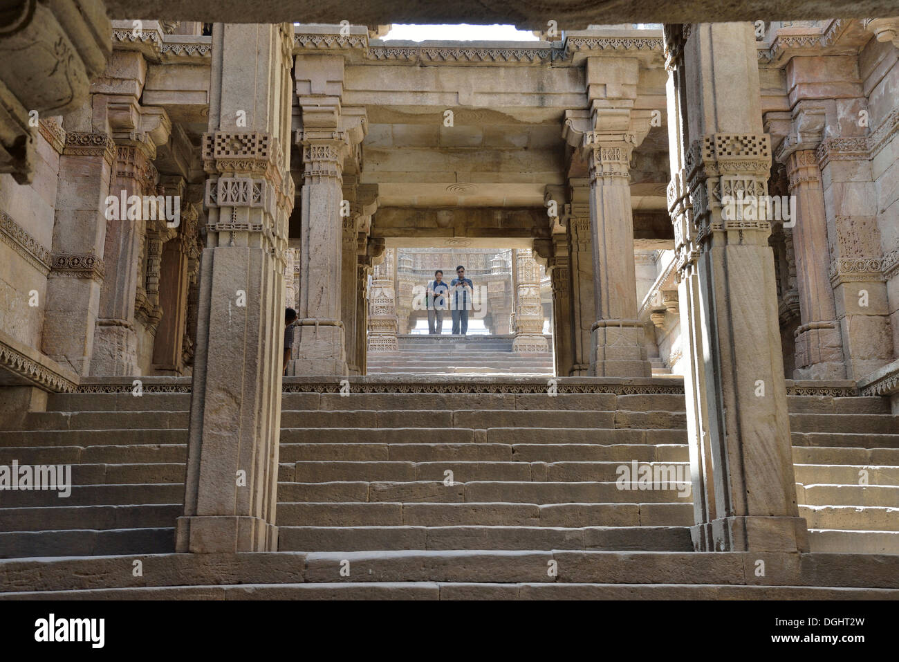 Adalaj Stepwell, Ahmedabad, Gujarat, India - Stock Image
