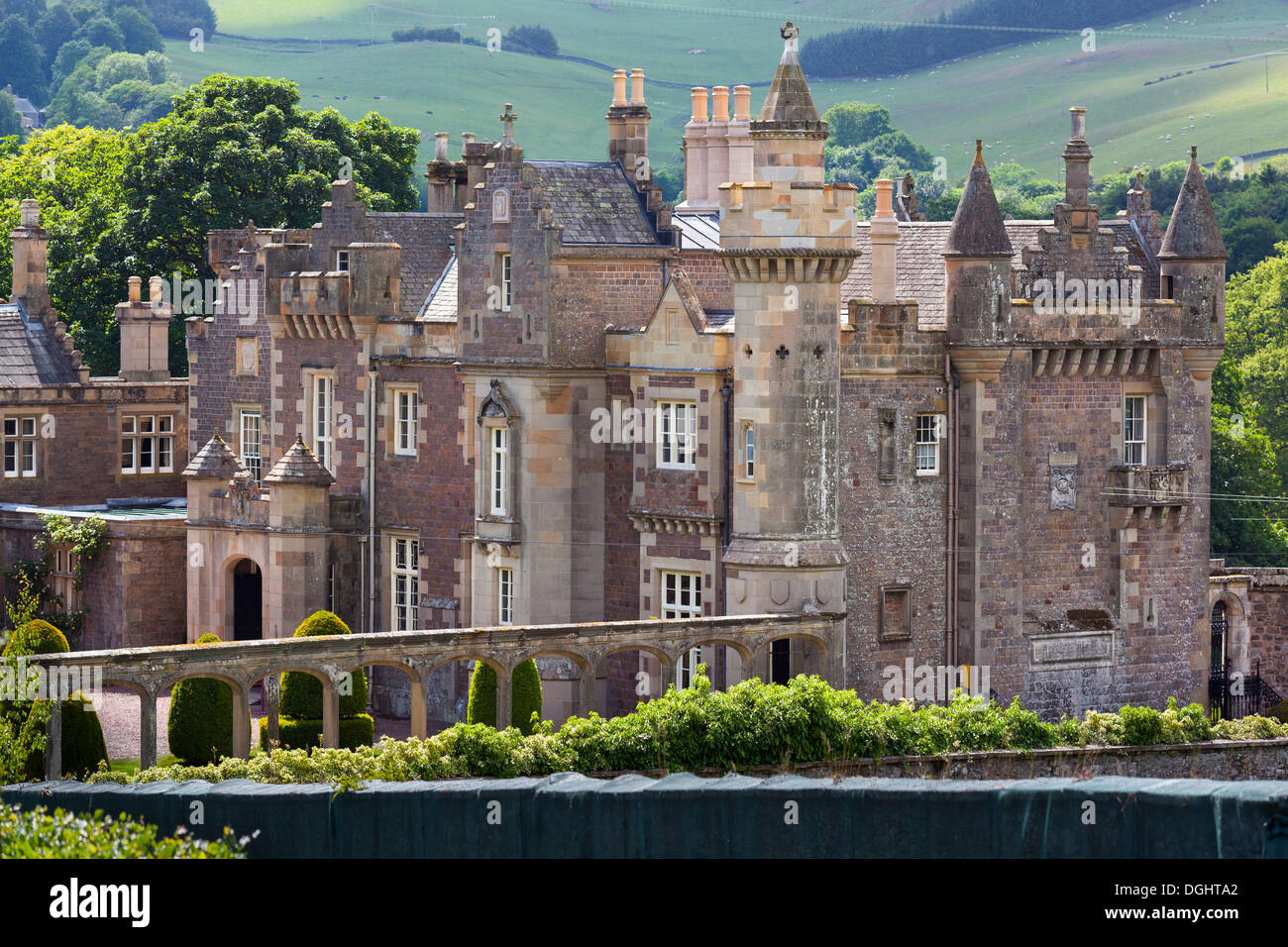 Abbotsford House, Melrose, Borders District, Scotland, United Kingdom - Stock Image