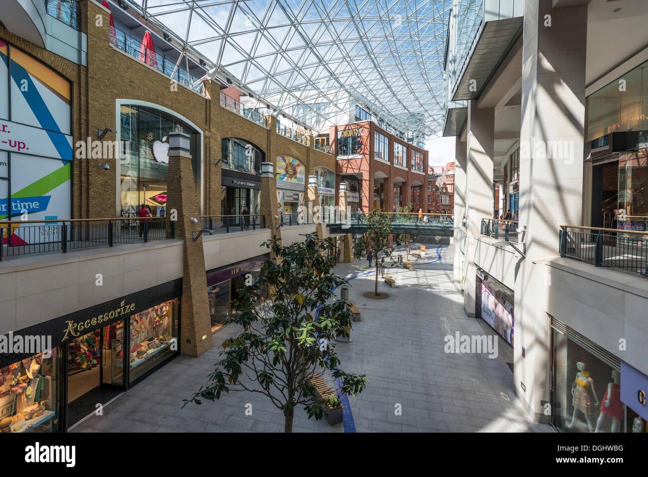 Victoria Square Shopping Centre, Belfast, Northern Ireland, United Kingdom, Europe - Stock Image