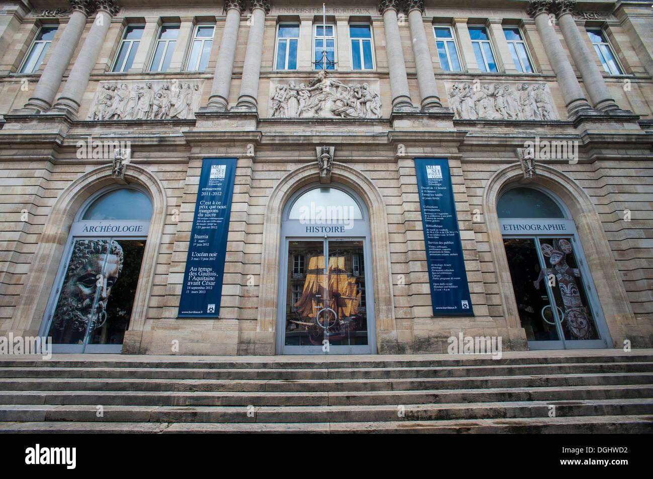 Musee d'Aquitaine, Bordeaux, Aquitaine, France, Europe, PublicGround - Stock Image