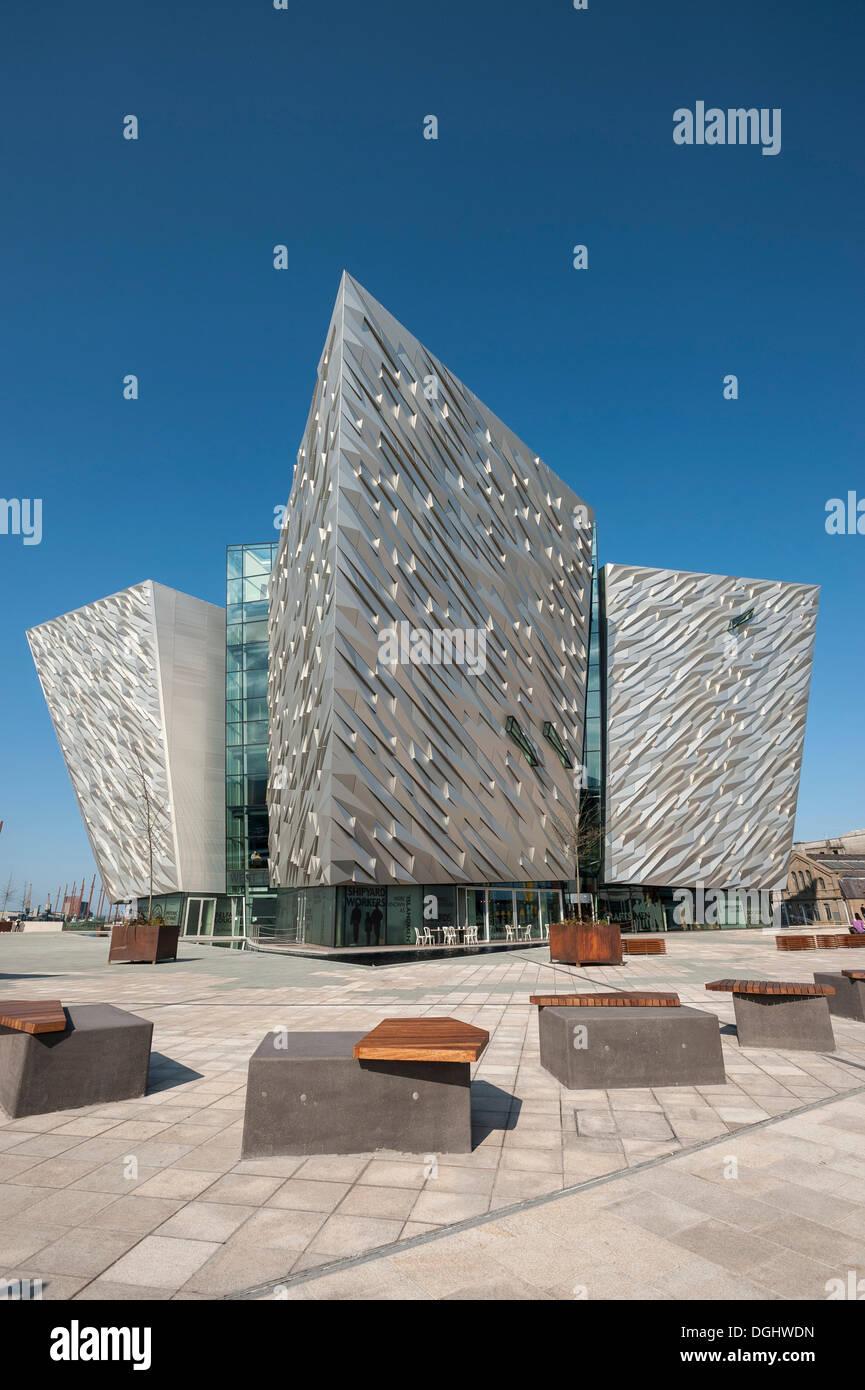 Titanic Museum, Belfast, Northern Ireland, United Kingdom, Europe, PublicGround - Stock Image