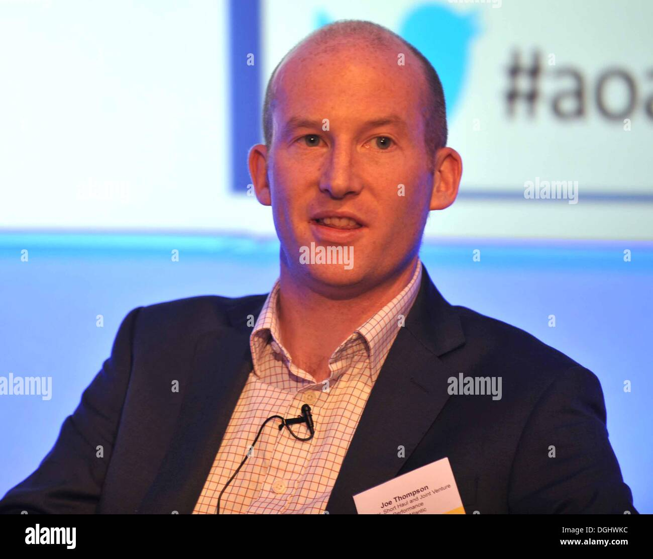 Joe Thompson Director of Virgin Short Haul and Joint Venture Performance. Airport operators from all over the UK are at The Airport Operators Association (AOA) conference - Stock Image