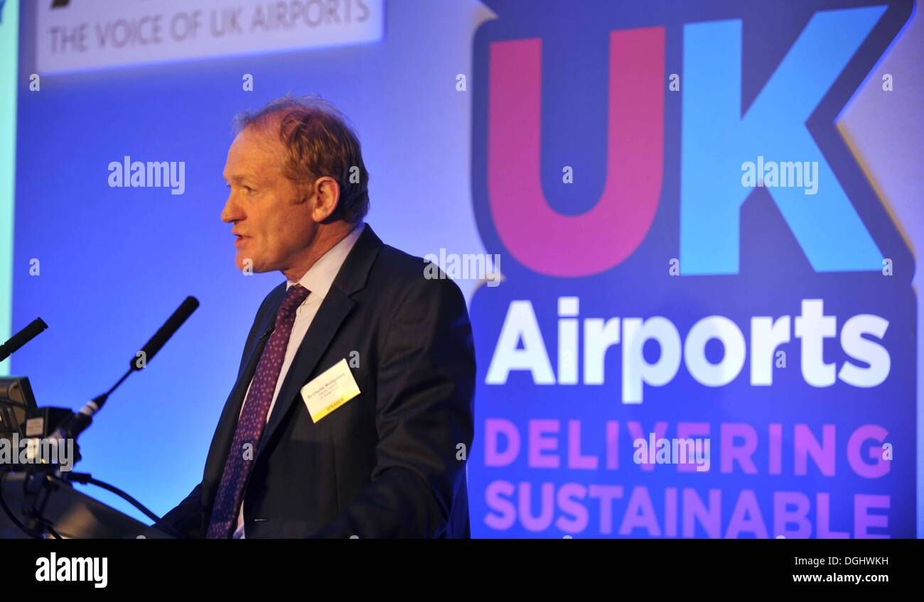 Airport operators from all over the UK are at The Airport Operators Association (AOA) conference - Stock Image