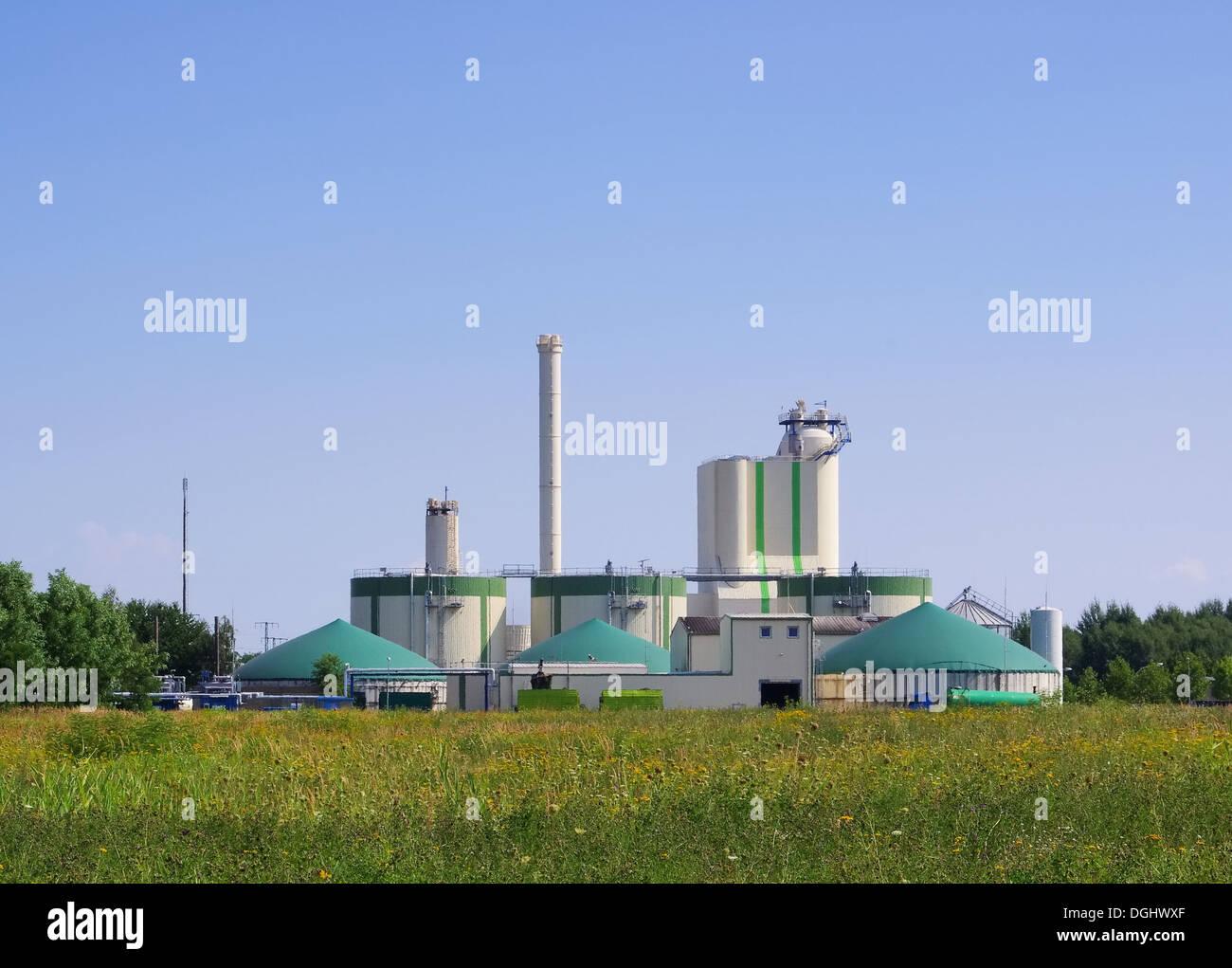 Biogasanlage - biogas plant 90 Stock Photo