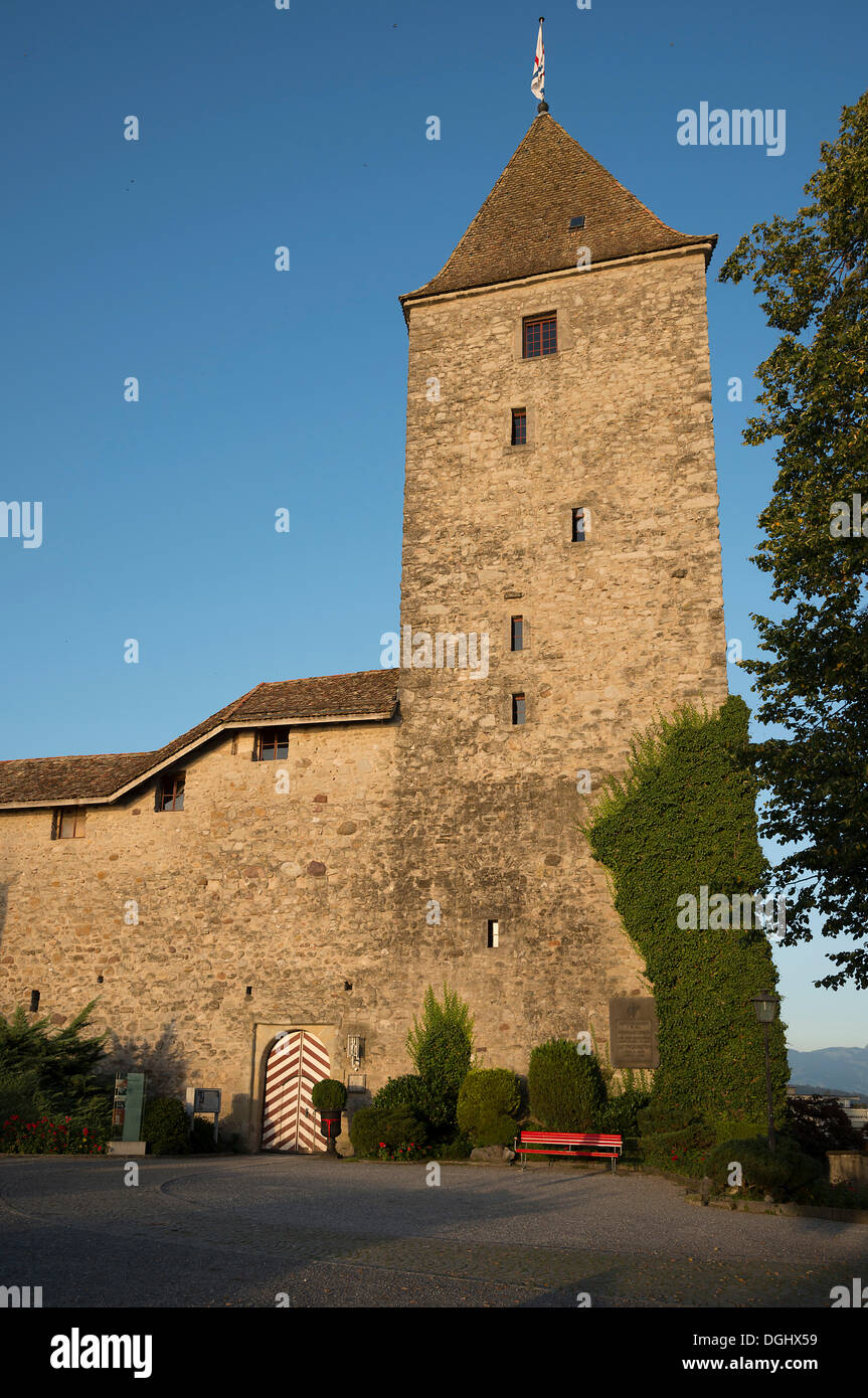 Schloss Rapperswil castle, Rapperswil, Rapperswil-Jona, Canton of St. Gallen, Switzerland - Stock Image