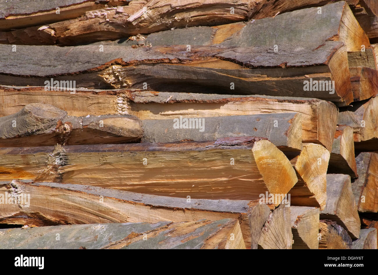 Holzstapel - stack of wood 44 - Stock Image