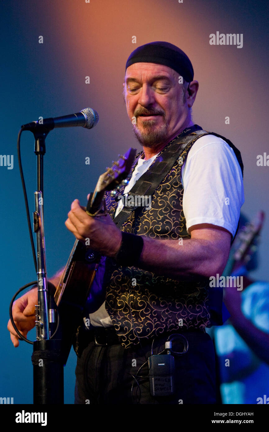British multi instrumentalist and singer Ian Anderson, Jethro Tull, live at the Blue Balls Festival in Lucerne concert hall of - Stock Image