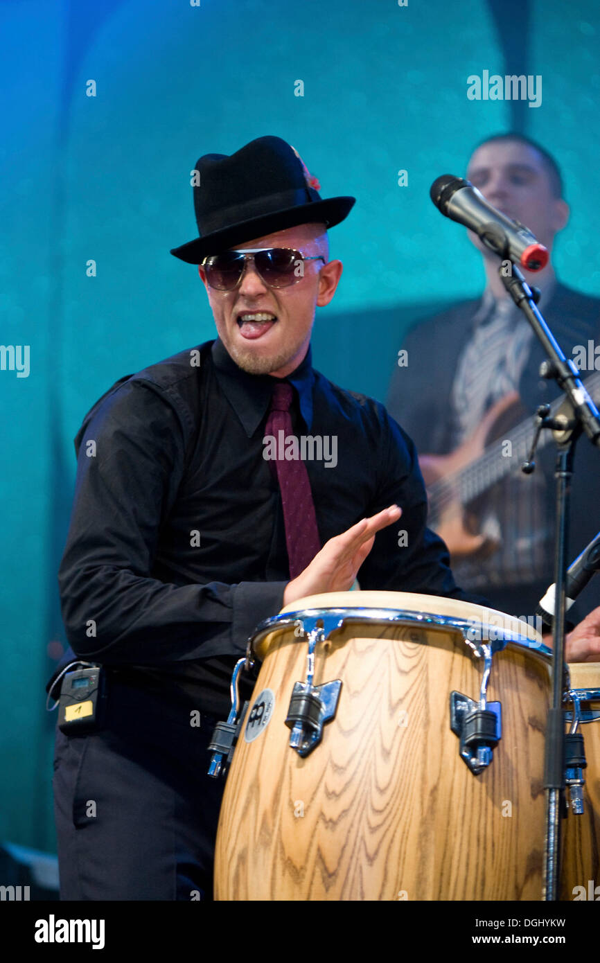 Jan Delay, German hip-hop, reggae and funk musician live at the Heitere Open Air, Zofingen, Switzerland - Stock Image