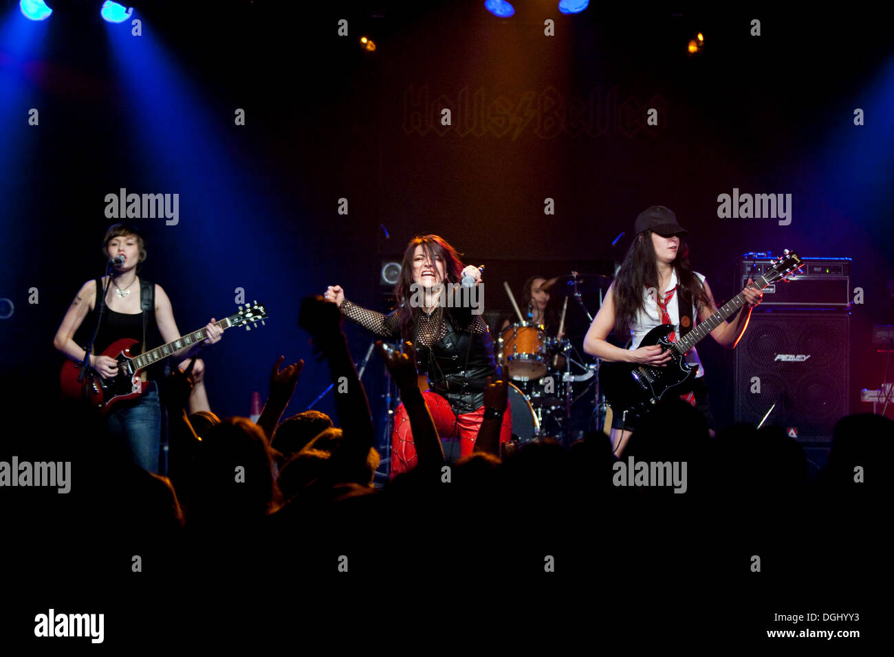 The German women AC/DC cover band Hells Belles live at the Schueuer ...