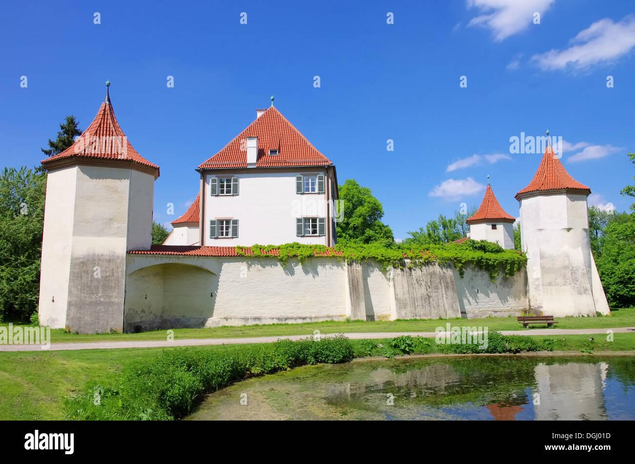 Muenchen Schloss Blutenburg - Munich palace Blutenburg 02 - Stock Image