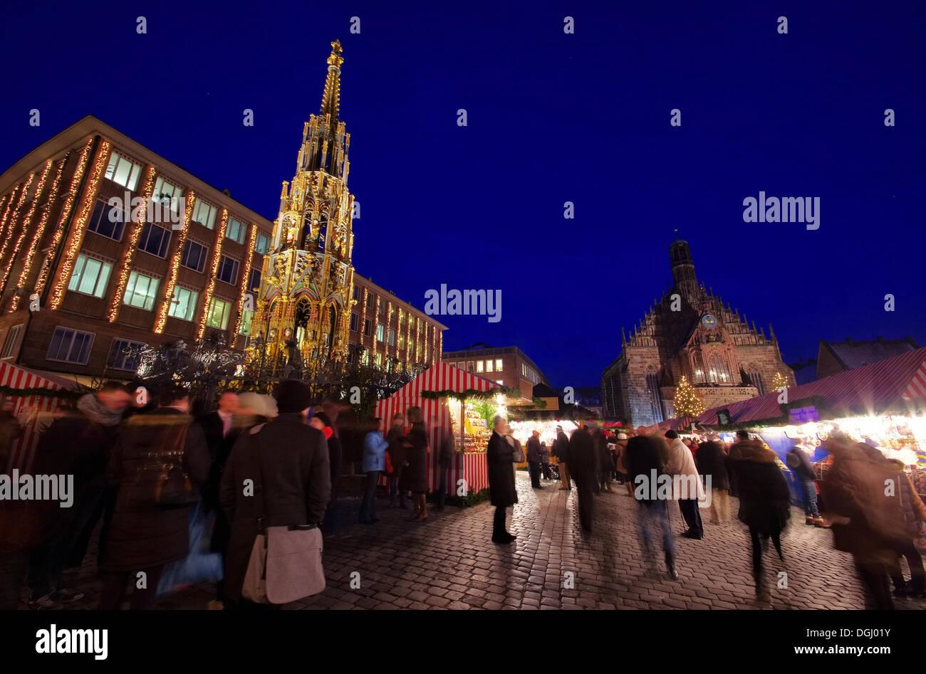 Nürnberg Weihnachtsmarkt - Nuremberg christmas market 05 - Stock Image