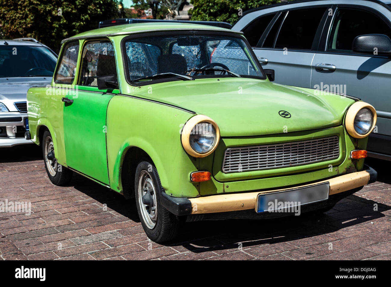 An old green Trabant 601S a car made in East Germany in the ...