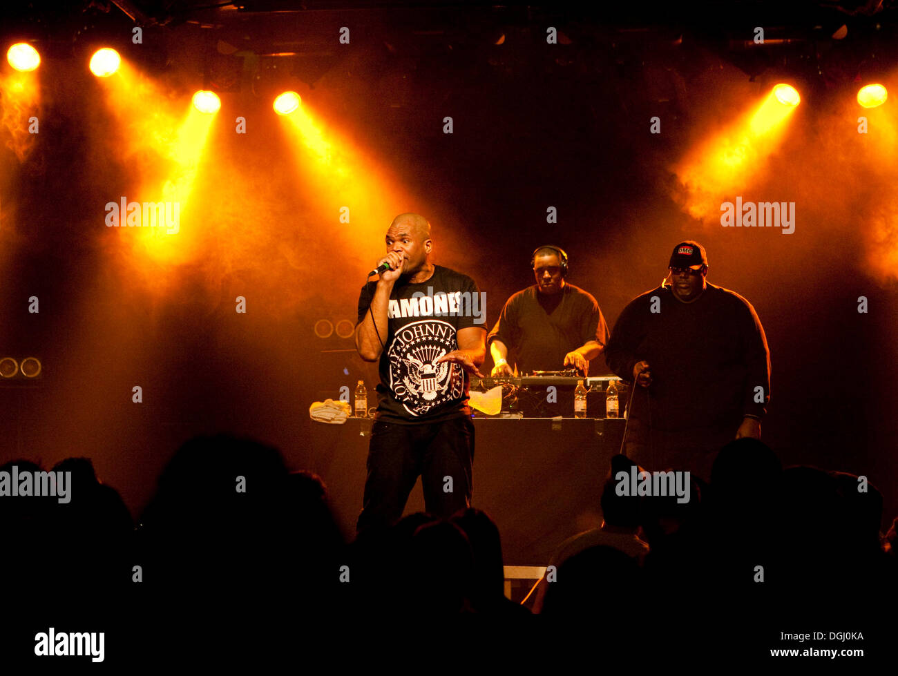 The U.S. hip-hop musician Darryl McDaniels aka DMC of RUN DMC, live in the Schueuer, Lucerne, Switzerland - Stock Image