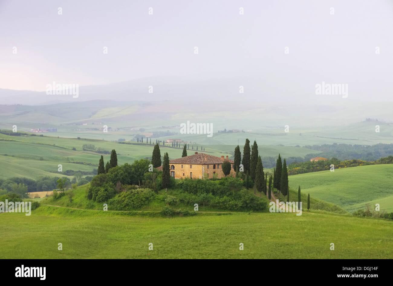 Toskana Haus im Nebel - Tuscany house in fog 13 Stock Photo