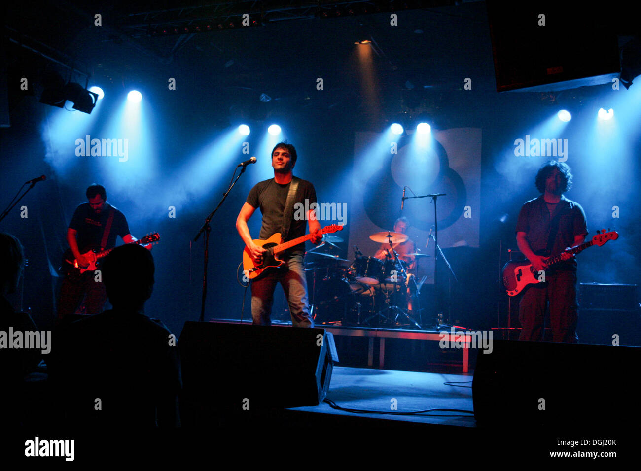 The German noise rock band Harmful live in the Schueuer venue, Lucerne, Switzerland - Stock Image