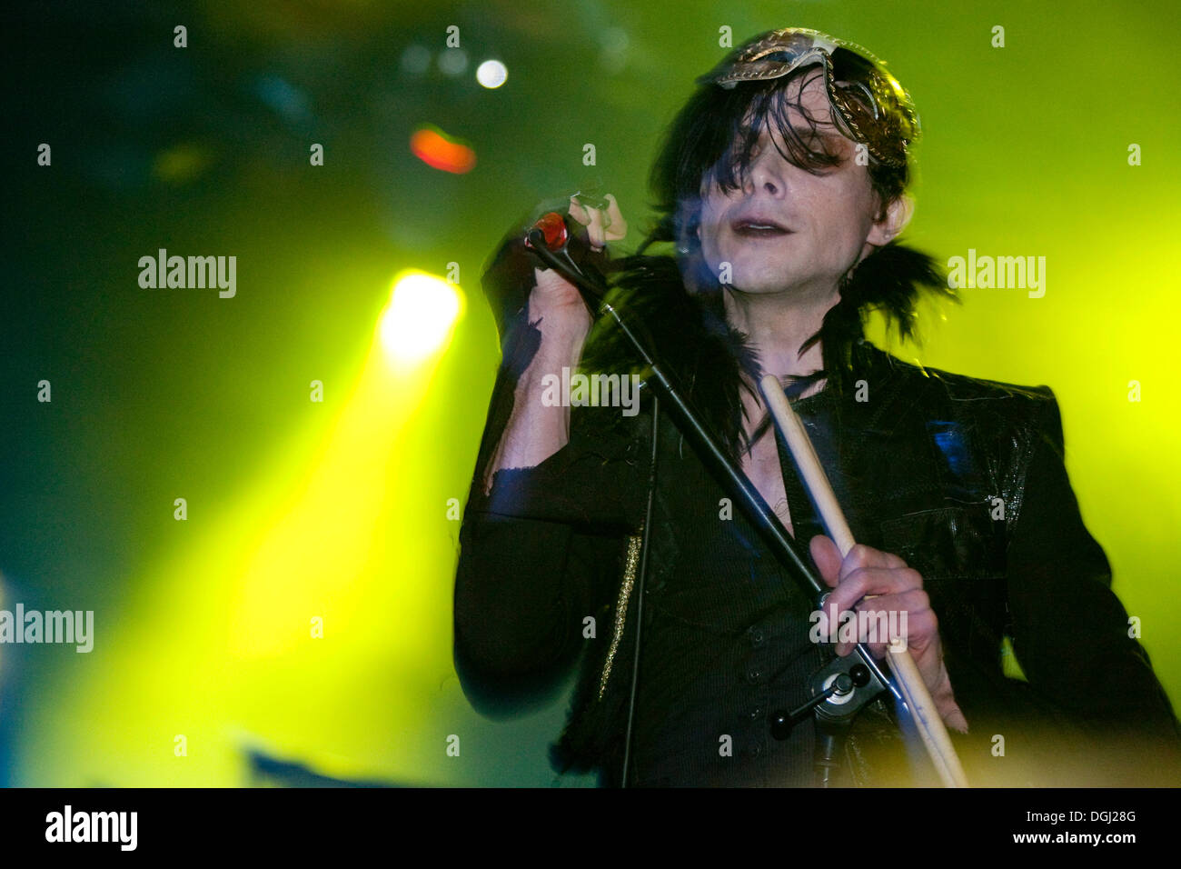 The British glam rock singer and musician Chris Corner live with his music project IAMX at the Schueuer venue, Lucerne - Stock Image