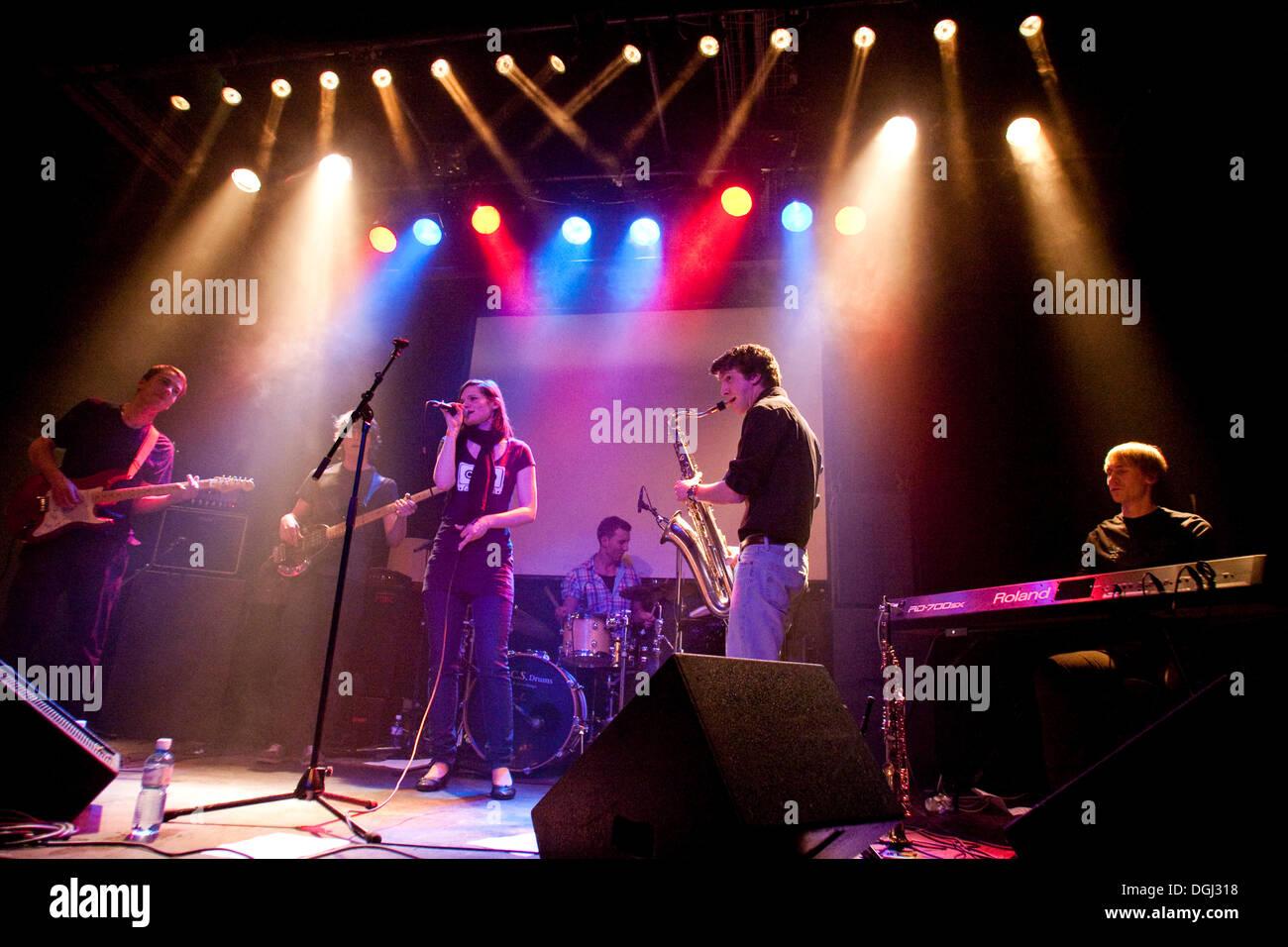 Swiss band Listen, live in the Treibhaus Lucerne, Switzerland - Stock Image