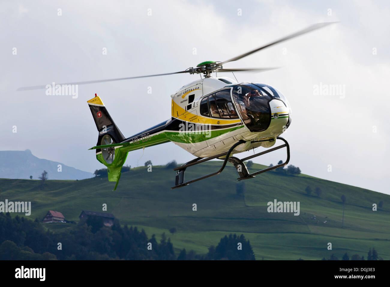 Helicopter by Heli Gotthard, Switzerland, Europe - Stock Image