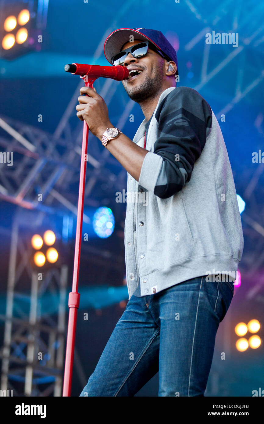 U.S. actor and rapper Kid Cudi performing live at the Heitere Open Air festival in Zofingen, Switzerland, Europe - Stock Image
