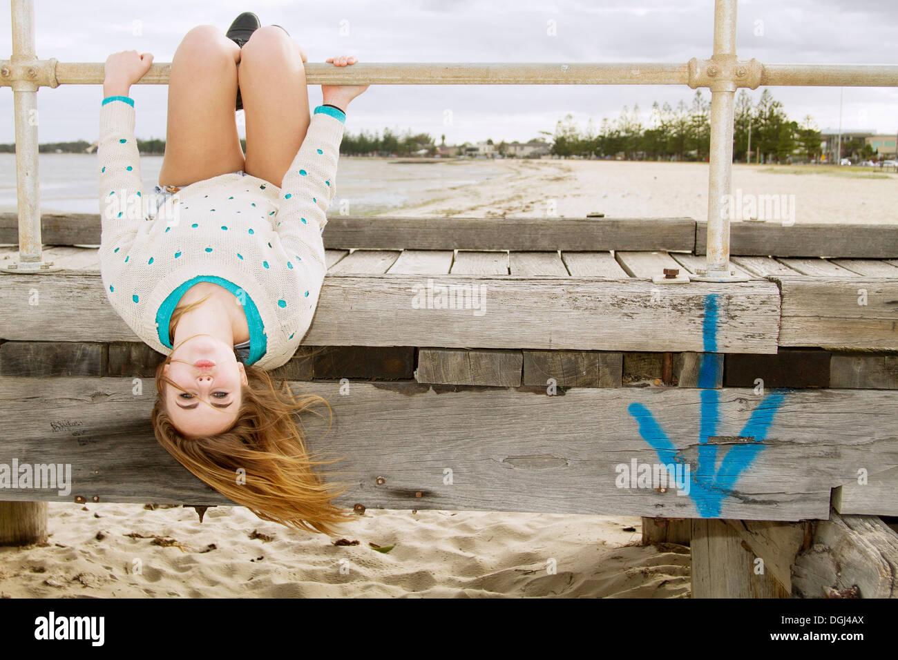 nude girls upside down