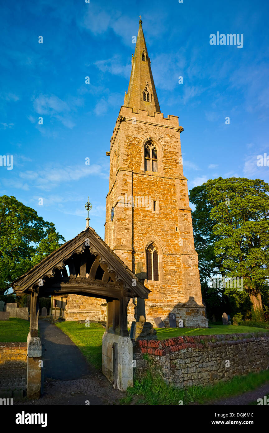 The Church of All Saints at Theddingworth. - Stock Image
