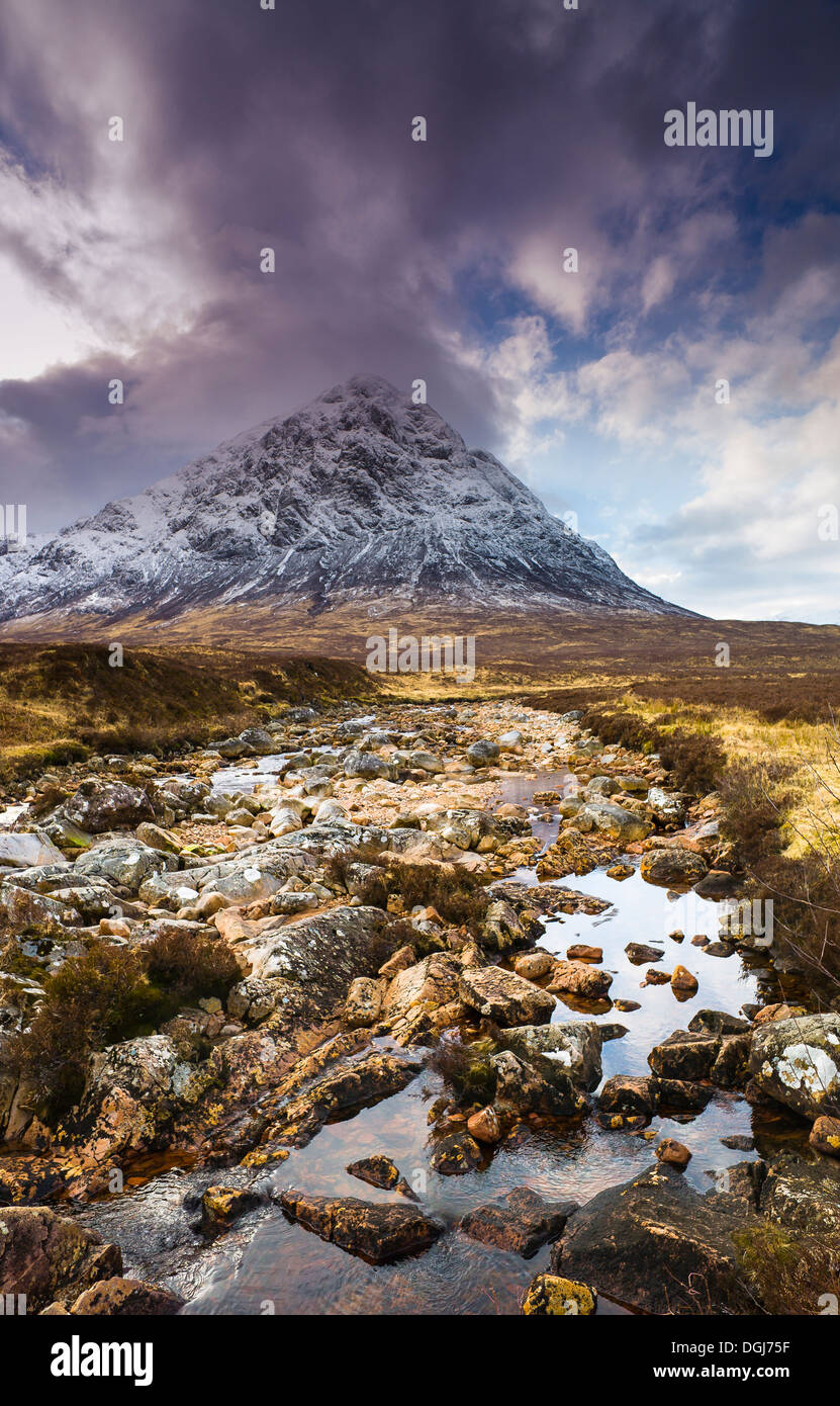 A view toward Buachaille Etive Mor. - Stock Image