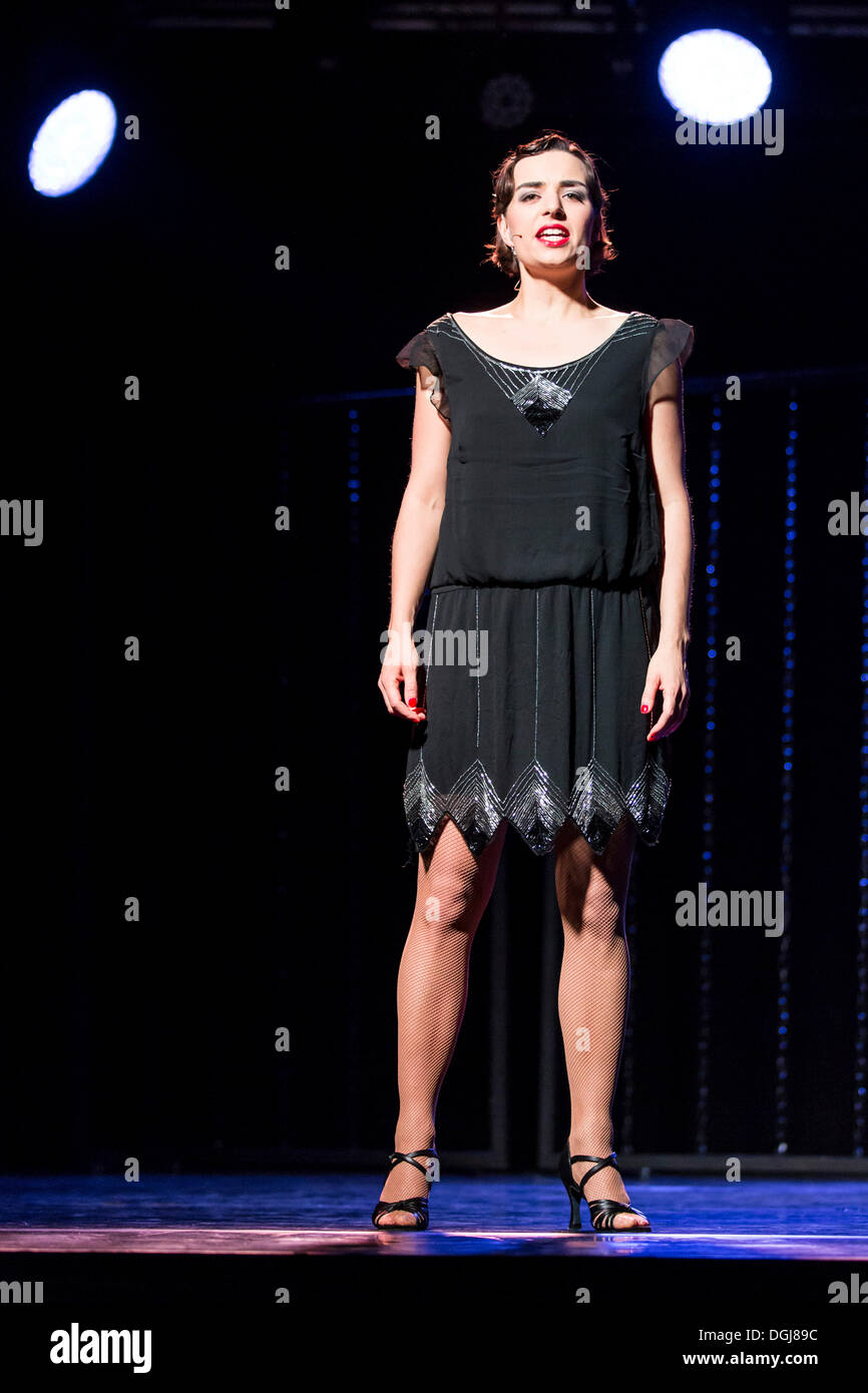 Musical 'Chicago' with Annette Krossa as Roxie Hart, live performance, Le Théâtre in Kriens, Lucerne, Switzerland, Europe - Stock Image