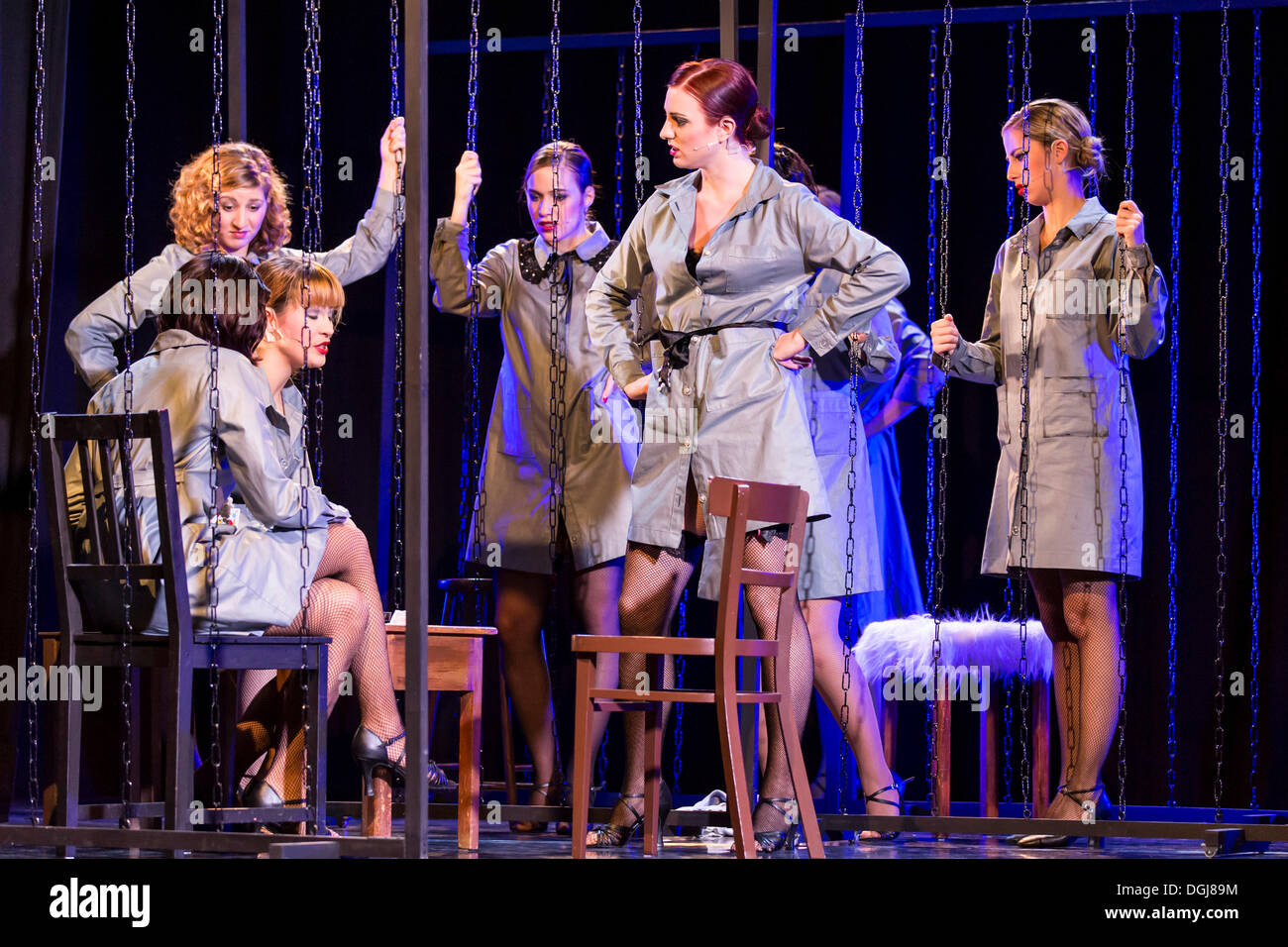 Musical 'Chicago', women in prison, live performance, Le Théâtre in Kriens, Lucerne, Switzerland, Europe - Stock Image