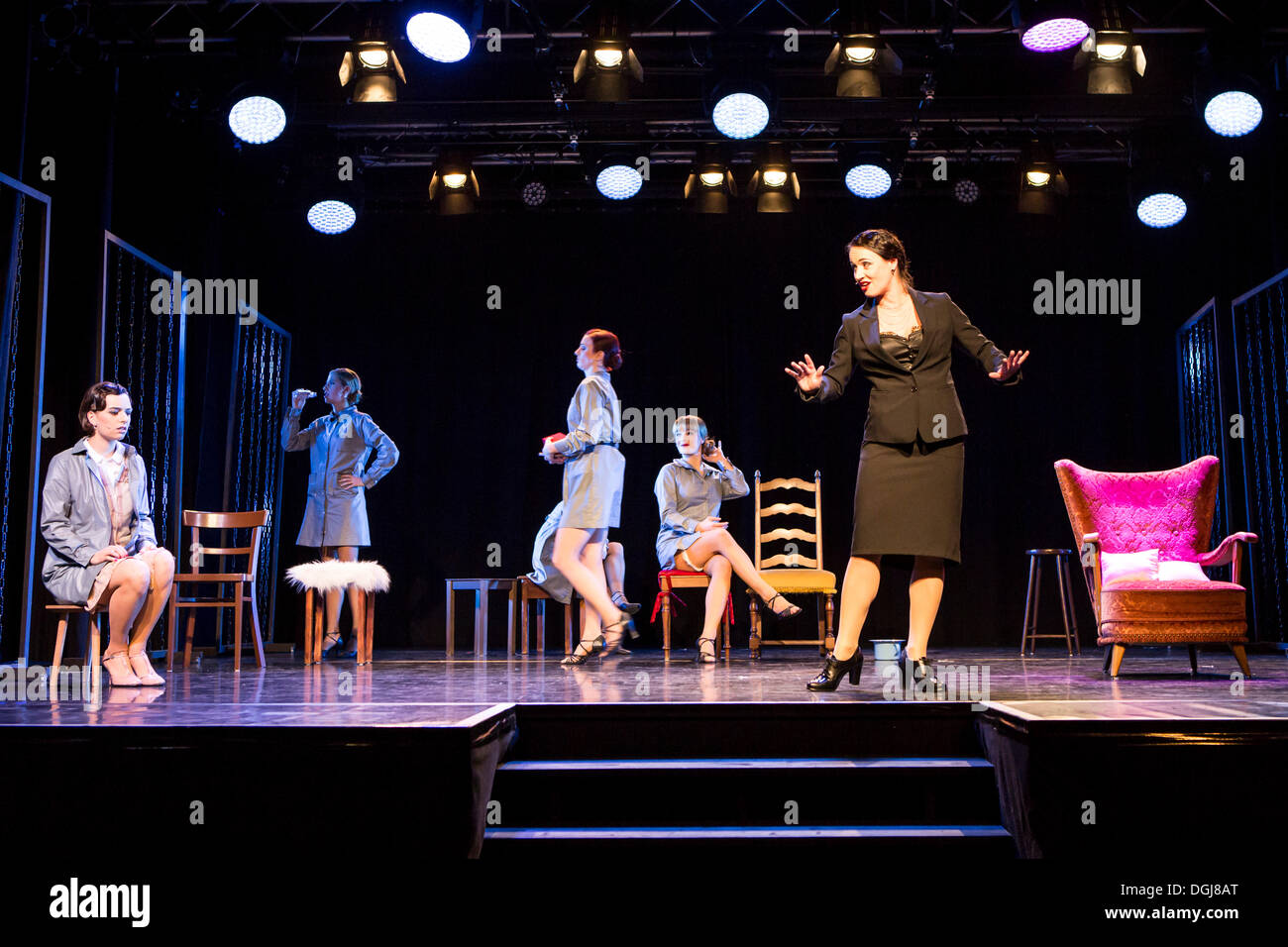 Musical 'Chicago', live performance, Le Théâtre in Kriens, Lucerne, Switzerland, Europe - Stock Image