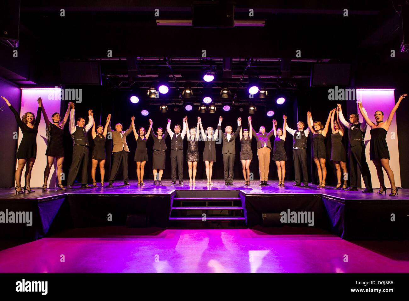 Musical 'Chicago', full cast, live performance, Le Théâtre in Kriens, Lucerne, Switzerland, Europe - Stock Image