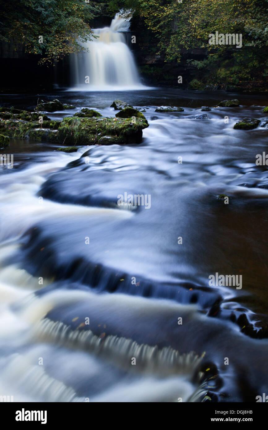 Cauldron Falls, West Burton, Yorkshire Dales - Stock Image