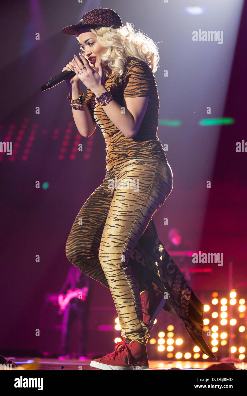 Rita Ora, British singer, model and actress of Kosovar Albanian descent, perfoming live at Energy Stars For Free Stock Photo