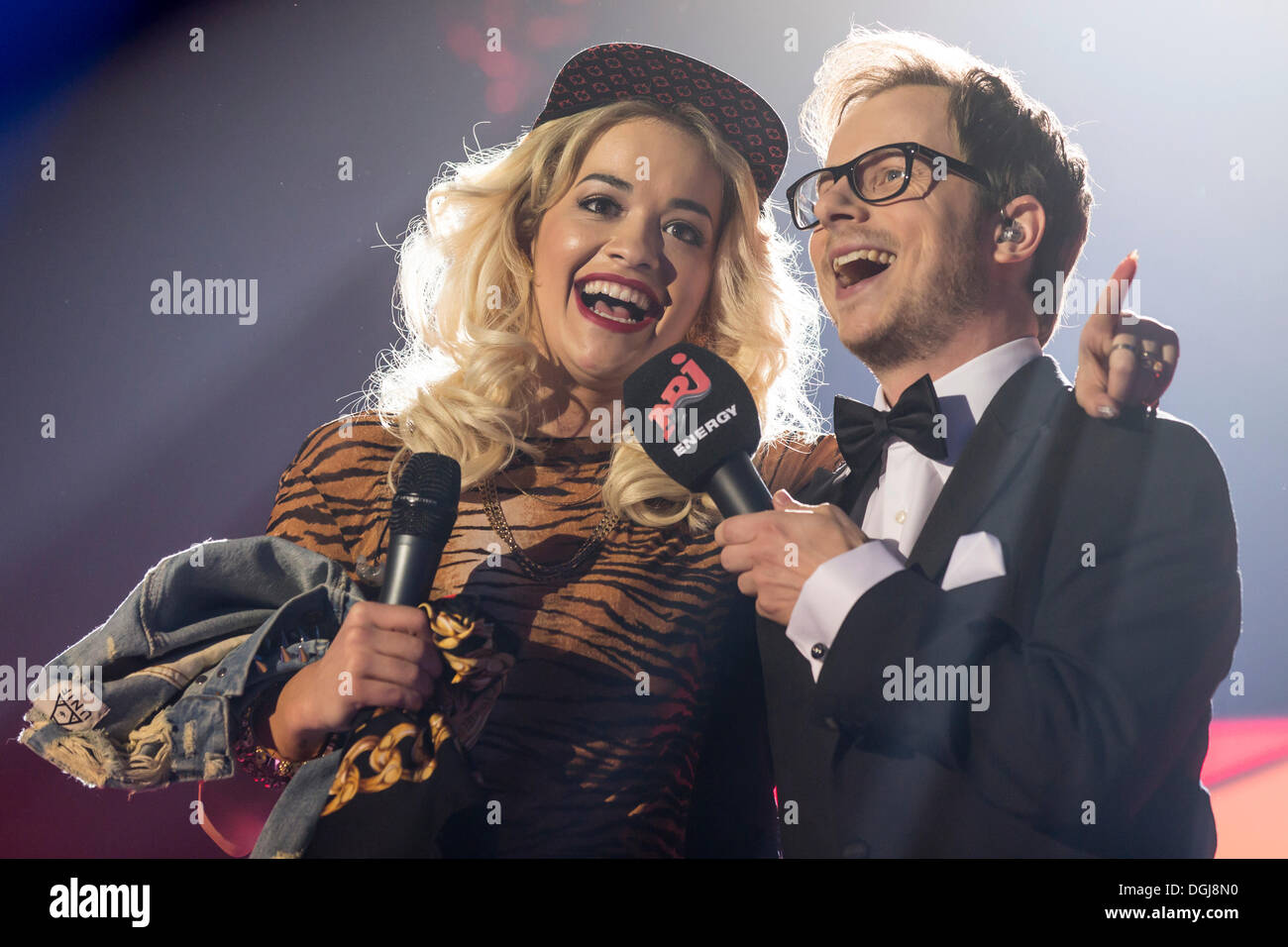 Rita Ora, a British singer, model and actress of Kosovar Albanian descent, singing live at the Energy Stars For Stock Photo