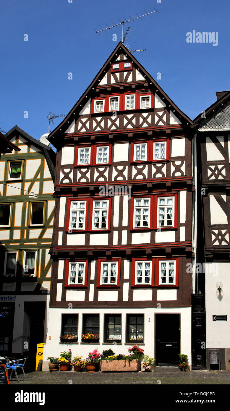 Half-timbered house on the marketplace of Alsfeld, Hesse - Stock Image