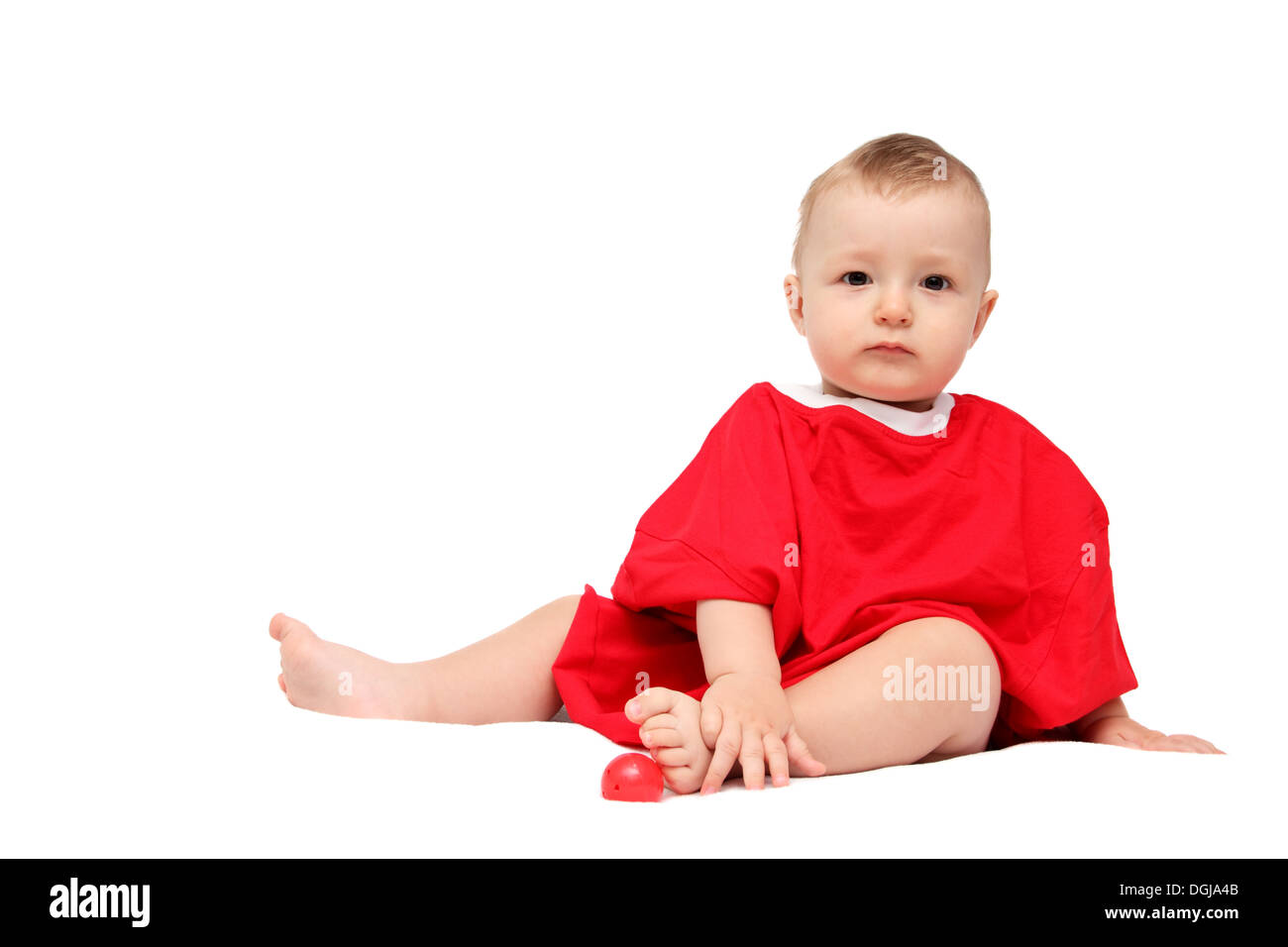 Child in red - Stock Image