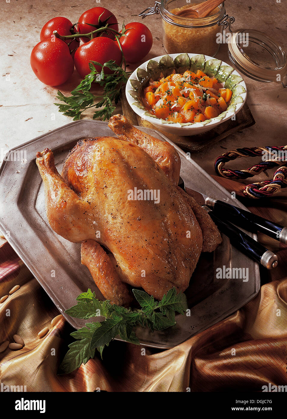 Thracian chicken, Turkey, recipe available for a fee - Stock Image